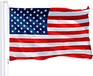 Best G128 – American Flag   3x5 feet   Printed 150D – Indoor/Outdoor, Vibrant Colors, Brass Grommets, Quality Polyester, US USA Flag, Much Thicker More Durable Than 100D 75D Polyester Review