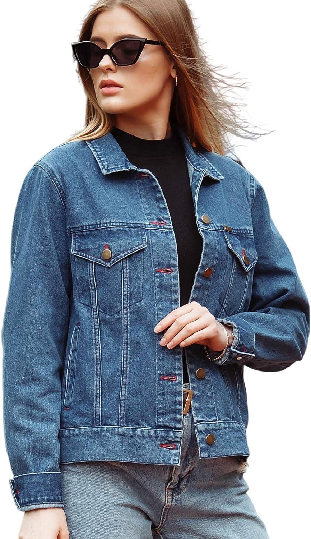 Jean Jacket Women - Denim Jacket for Women - Crop Jackets for Women