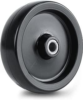 Martin Wheel 5X1-3/8 Plastic Deck Wheel for Lawn Mower, 1/2-InchBushing, 1-1/2-InchCentered Hub
