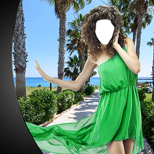 Sexy Kleid-Foto-Montage