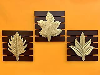 Maple Craft Wood Brass Wall Art - 8 X 8 Inches