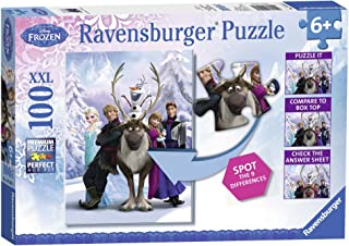 "Ravensburger Disney Frozen Difference Hidden Changes 100 Piece Jigsaw Puzzle for Kids "" Every Piece is Unique, Pieces Fit Together Perfectly"