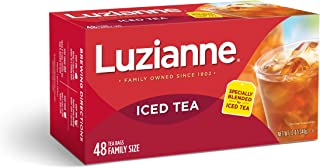 Luzianne Specially Blended Iced Tea Bags, Family Size, 48-ct box (Pack of 6)