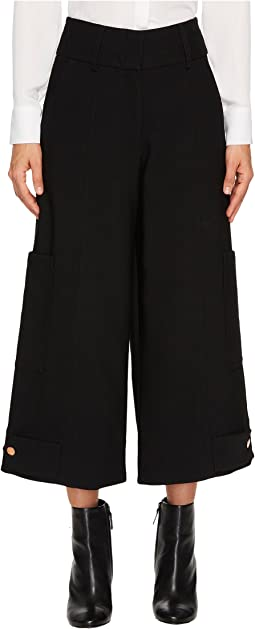 See by Chloe - Crop Wide Leg Pants with Snaps