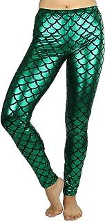 ToBeInStyle Women's Hipster Mermaid Dazzling Leggings