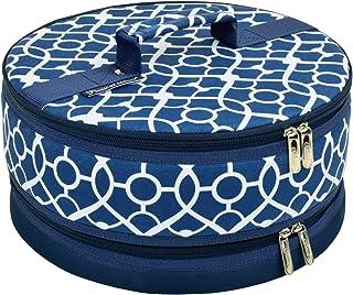Picnic at Ascot Cake Carrier, Trellis Blue