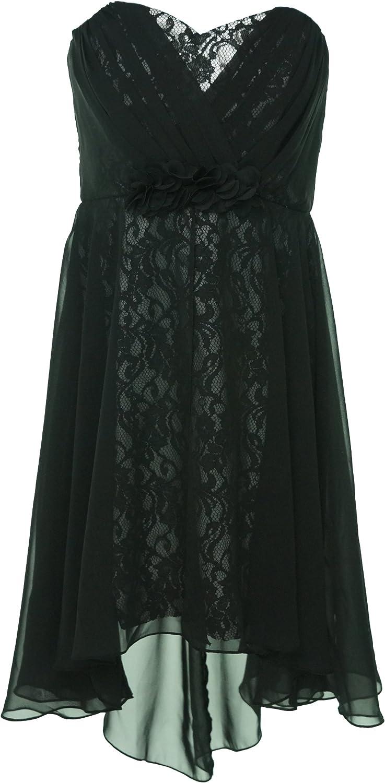 High-Low Hemline Lace Dress