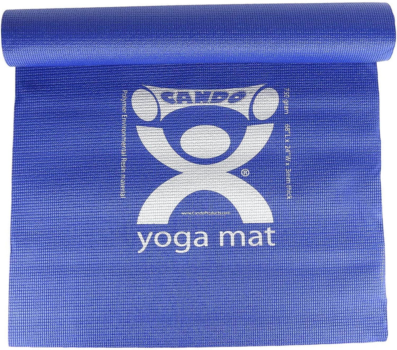 Cando Gymnastikmatte – Yogamatte, Blau, 178 x 61 x 0,3 cm, 10 Stück