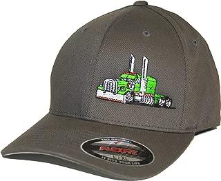 Trucker Hat Big Rig Tractor Semi Flexfit Cap Truck Driver