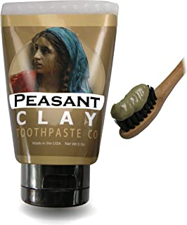 Peasant Girl's Handmade All Natural Non-Fluoride Alkaline Bentonite Clay Toothpaste with Coconut and Peppermint Essential Oil
