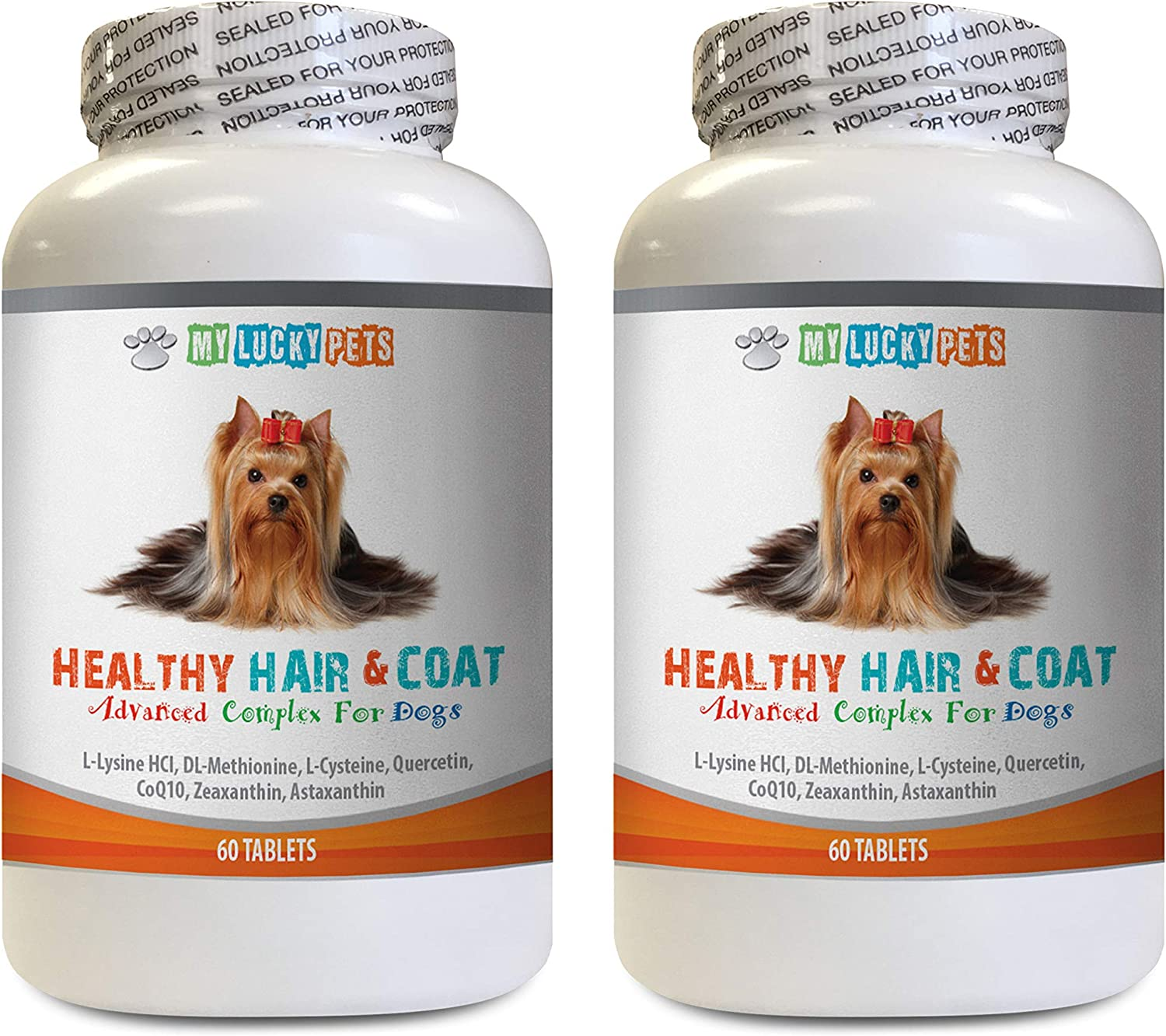 MY mart LUCKY PETS LLC Dog Skin Pills Coat shop S Healthy and - Hair