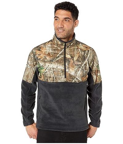 Columbia PHGtm Fleece Overlay 1/4 Zip (Black/Real Tree Edge) Men
