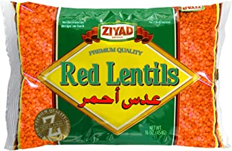 Ziyad Gourmet Red Lentils, Superfood, Ancient Grains, 100% All-Natural, No Additives, No Preservatives, Great Source of Pr...