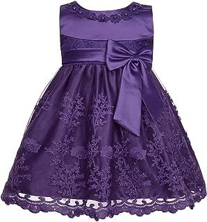 YiZYiF Baby Girls' Embroidered Christening Baptism Flower Girl Wedding Dresses