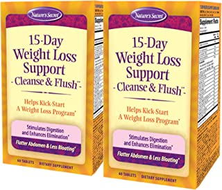 Nature's Secret 15-Day Weight Loss Support & Natural Energy Boost - Cleanse & Flush Stimulates Digestion, Enhances Toxin E...