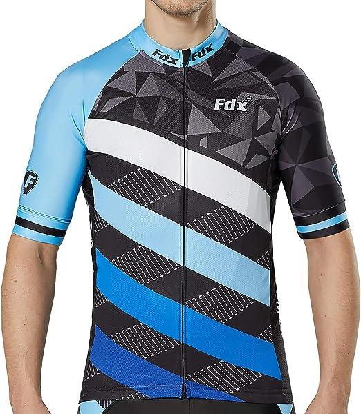 FDX Classic II Lightweight Race Fit Maillot de cyclisme-Respirant Moitié Haut à Manches