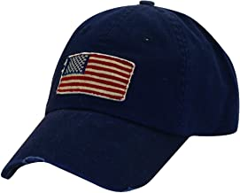 Dorfman Pacific Cotton Stars and Stripes American Flag Baseball Hat