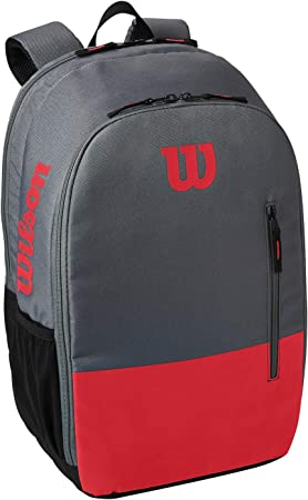 WR8009903001 Holds up to 2 rackets Wilson Team Tennis Backpack Green//Grey
