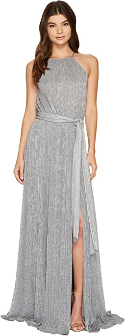 Halston Heritage - Sleeveless High Neck Textured