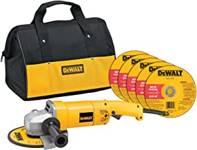 DEWALT Angle Grinder Tool Kit with Bag and Cutting Wheels, 7-Inch, 13-Amp (DW840K)