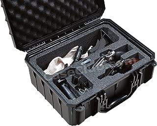 Case Club Waterproof 2 Revolver/Semi-Auto Case with Accessory Pocket & Silica Gel