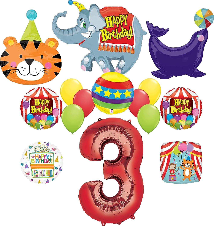 3rd Birthday Circus Balloon Bundles