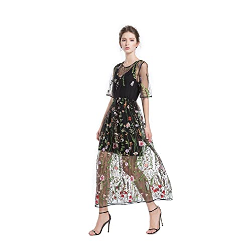Embroidered Lace Dress Amazoncom