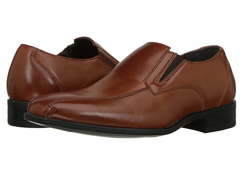 Stacy Adams Kids Fairchild Bike Toe Slip-On (Little Kid/Big Kid) (Cognac) Boys Shoes