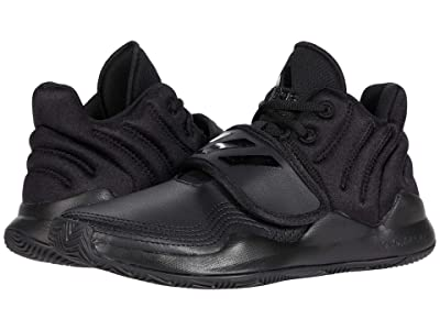 adidas Kids Deep Threat Wide Basketball (Big Kid) (Core Black/Core Black/Core Black) Kids Shoes
