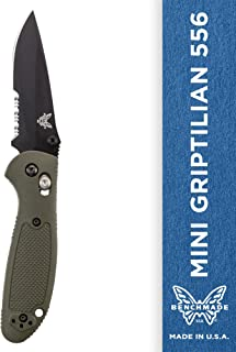 Benchmade - Mini Griptilian 556 EDC Manual Open Folding Knife Made in USA with CPM-S30V Steel, Drop-Point Blade