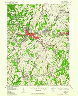 YellowMaps Irwin PA topo map, 1:24000 Scale, 7.5 X 7.5 Minute, Historical, 1953, Updated 1964, 26.9 x 22 in