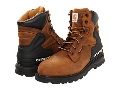 Carhartt 6 Soft Toe Waterproof Work Boot (Brown) Men