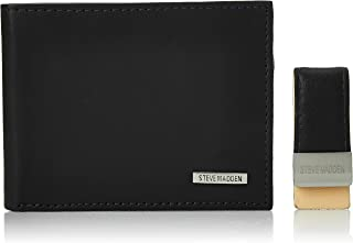 Steve Madden  Mens Wallet, Black/Blue, One Size - N80080