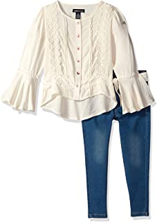 Limited Too Girls' Bell Sleeve Blouse Jean Set