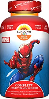 Sundown Kids Marvel Spiderman Complete Multivitamin, 180 Gummies