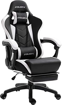 Dowinx Gaming Chair Ergonomic Racing Style Recliner with Massage Lumbar Support, Office Armchair for Computer