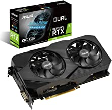 ASUS GeForce RTX 2060 Overclocked 6G GDDR6 Dual-Fan EVO Edition VR Ready HDMI DisplayPort DVI Graphics Card (DUAL-RTX2060-...