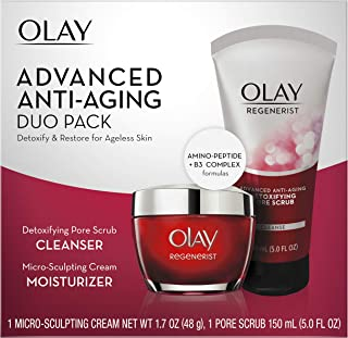 Sponsored Ad - Olay Regenerist Advanced Anti-Aging Pore Scrub Cleanser (5.0 Oz) and Micro-Sculpting Face Moisturizer Cream...