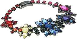 Rainbow Casted Stone Star Link Bracelet