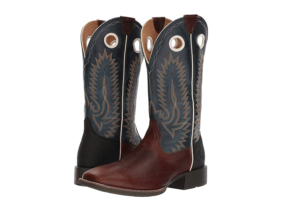 Ariat Heritage High Plains (Vintage Caramel/Baltic Blue) Cowboy Boots