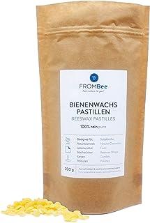 Frombee Bienenwachspastillen im 200 g Beutel – Reine Bienenwachs Pastillen – ideal für Bienenwachstücher, Kerzen und Naturkosmetik – aus ökologischer Bienenhaltung