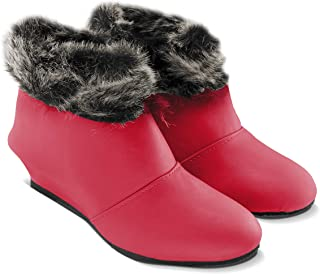 Cattz Synthetic Leather Ankle Length & High Ankle Length Boots for Women Red