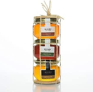 Miel de abeja Set de 3 variedades, el Regalo PERFECTO