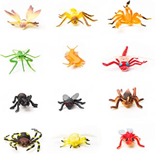 Fun Central 144 Pieces - Bugs Figurine and Insects Toy Figure for Toddlers & Kids - Assorted Designs