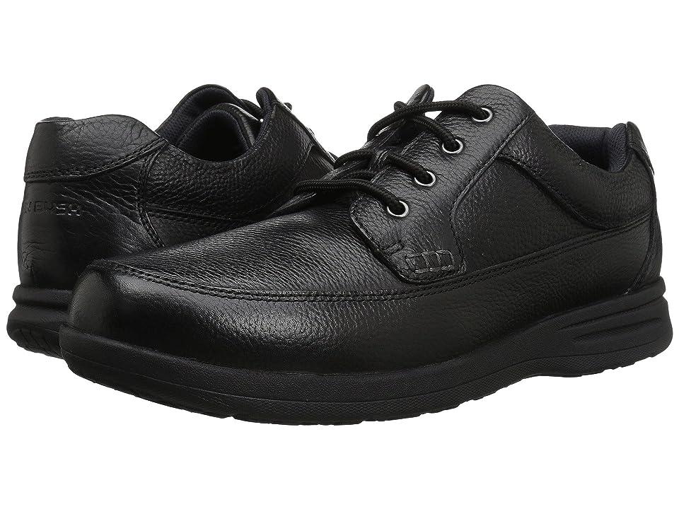 Nunn Bush Cam Oxford Casual Walking Shoe (Black Tumbled Leather) Men