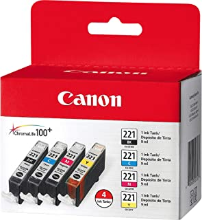 "CLI-221 Four Color Pack ""Canon CLI-221 Four Color Pack Compatible to MP980, MP560, MP620, MP640, MP990, MX860, MX870, iP4600, iP3600, iP4700"""