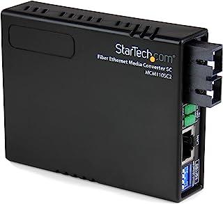 StarTech MCM110SC2 Convertidor de Medios Ethernet de 10/100 Mbps a Fibra Multimodo SC, 2Km