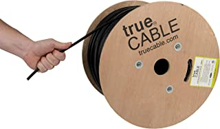 trueCABLE Cat6 Outdoor, Shielded FTP, 1000ft, Waterproof, Direct Burial Rated CMX, Black, 23AWG Solid Bare Copper, 550MHz, ETL Listed, Bulk Ethernet Cable