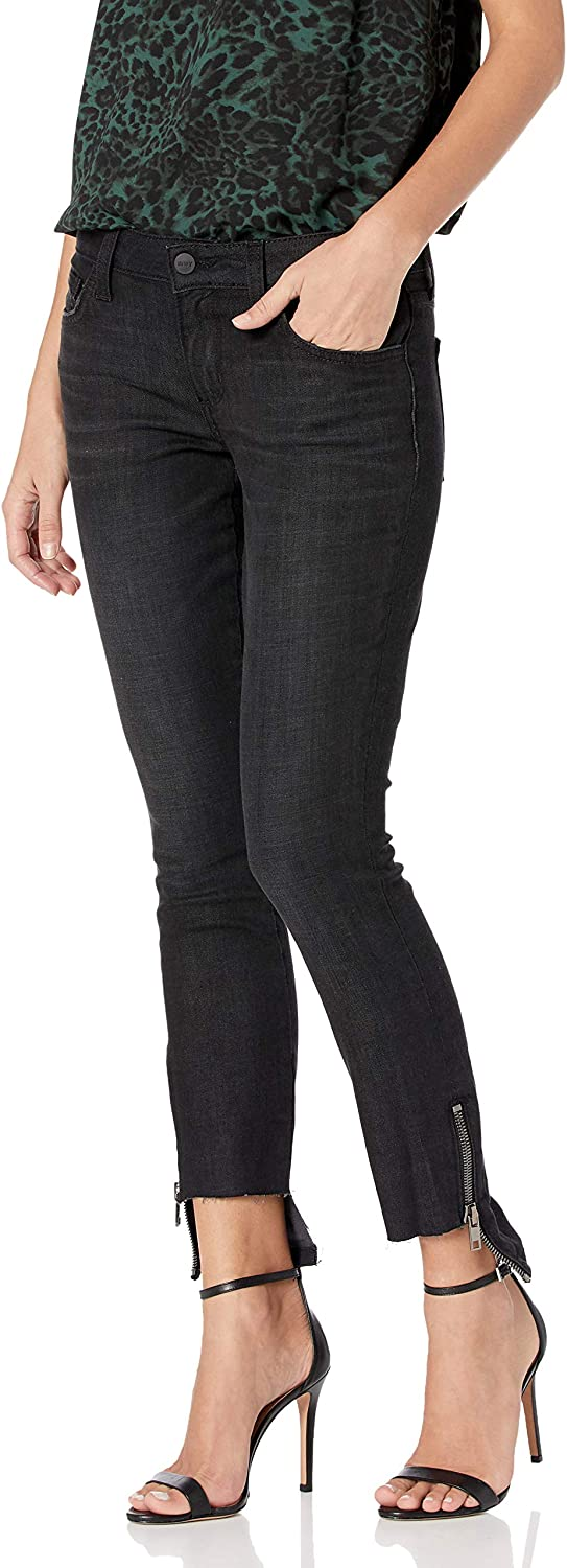 SIWY Women's Ciara Low Challenge the lowest price Rise Hem Special price Black Skinny in Eclipse Zip