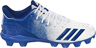 Men's Icon 4 Splash MD Baseball Cleats (8, White/Blue)